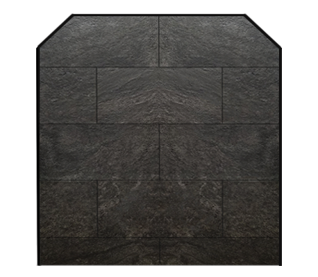ebony profile hearth pad